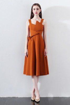 Fashion Brown Knee Length...