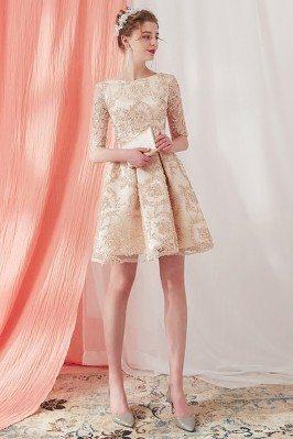 Elegant Champagne Lace...