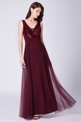 Glittering Sequin Burgundy...
