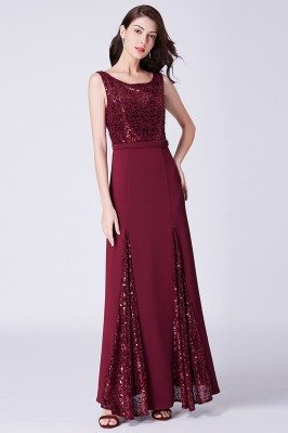 Sparkly Sequined Burgundy...