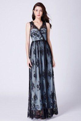 Floral Printed Black Lace...