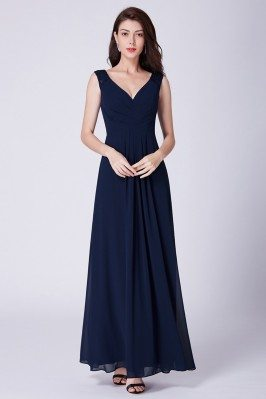 Simple Navy Blue Long...