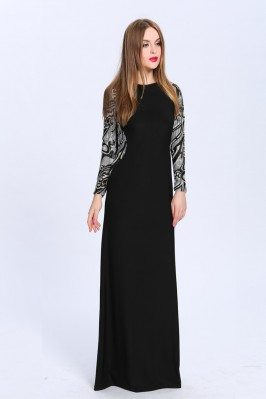 Black Long Sleeve Party Dress
