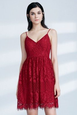 Short Red Lace Homecoming...