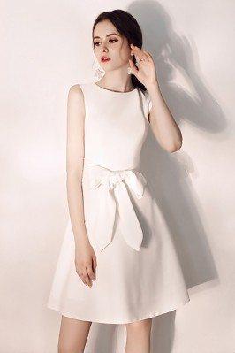Elegant White Aline Hoco...