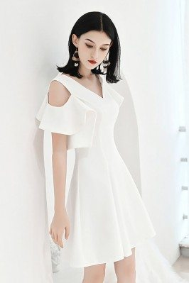 White Aline Party Dress...