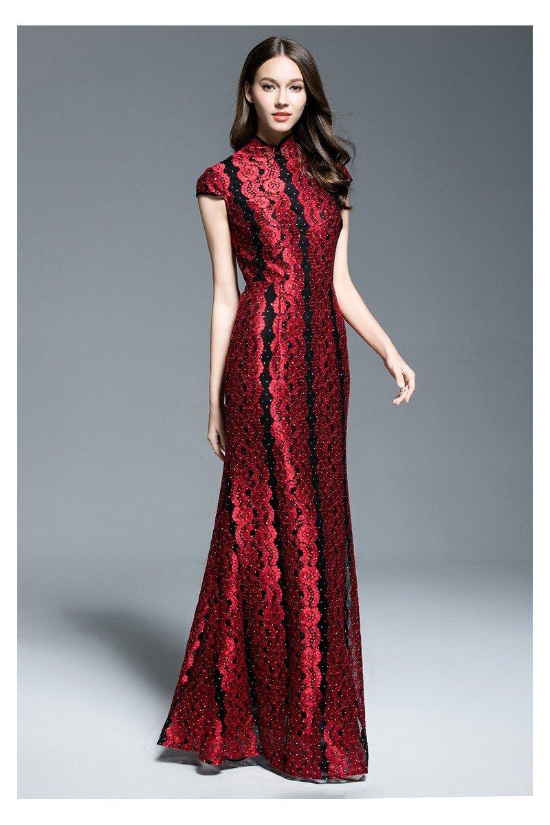 Exlusive Qipao Style High Neck Long Formal Dress - $92 #CK544 ...