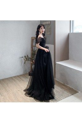 Elegant Sequin Tulle Long...